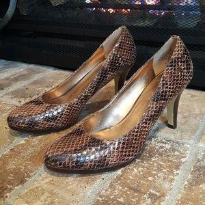 Anne Klein | Faux Snake Skin Heels